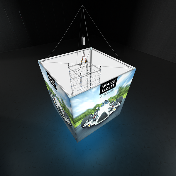 WAVELIGHT® CASONARA BLIMP CUBE 360º HANGING LIGHT BOX - 200L