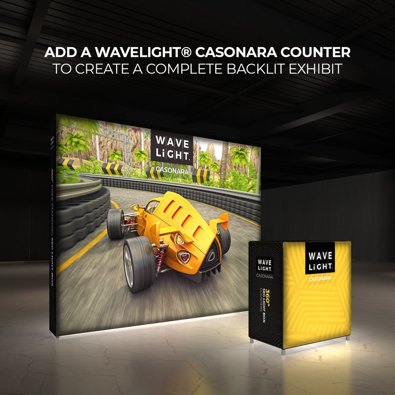 WAVELIGHT® CASONARA WALL 360º LIGHT BOX DISPLAY - 10FT
