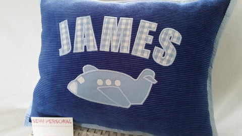 Personalised Aeroplane Cushion