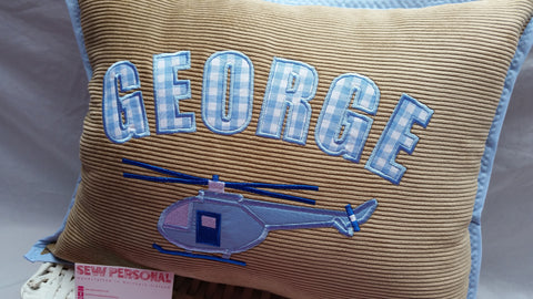 Personalised Helicopter Cushion