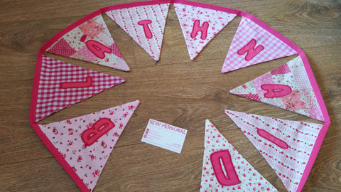 Personalised Bunting for Girls
