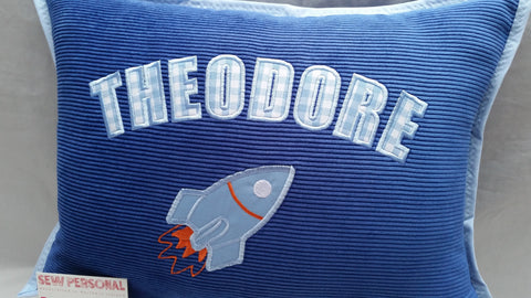 Personalised Rocket Cushion