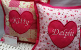 Small Personalised Cushion for Girls