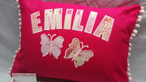 Personalised Butterflies Cushion