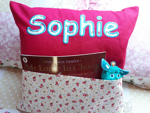 Personalised Pocket Pillow for Girls