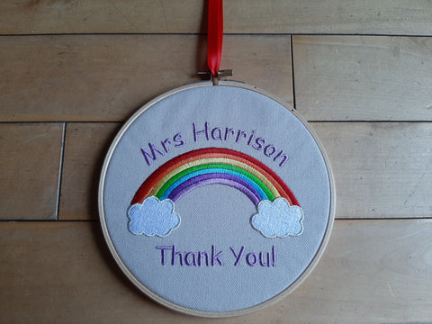 Thank You Personalised Rainbow Hoop