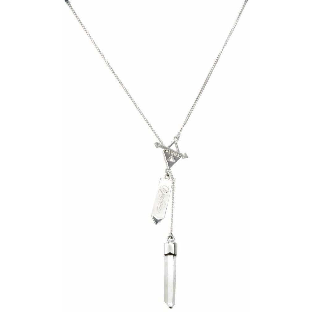 FACETED QUARTZ CRYSTAL POINT CRYSTAL NECKLACE