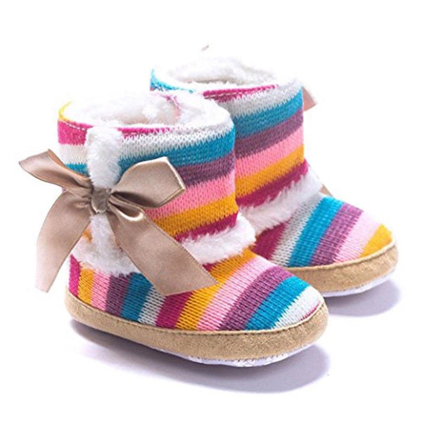 Striped Bow Booties
