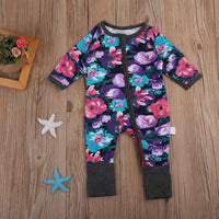 Flower Zipper Playsuit