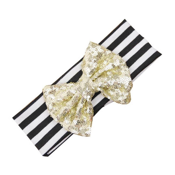 Sequin Bow Headband
