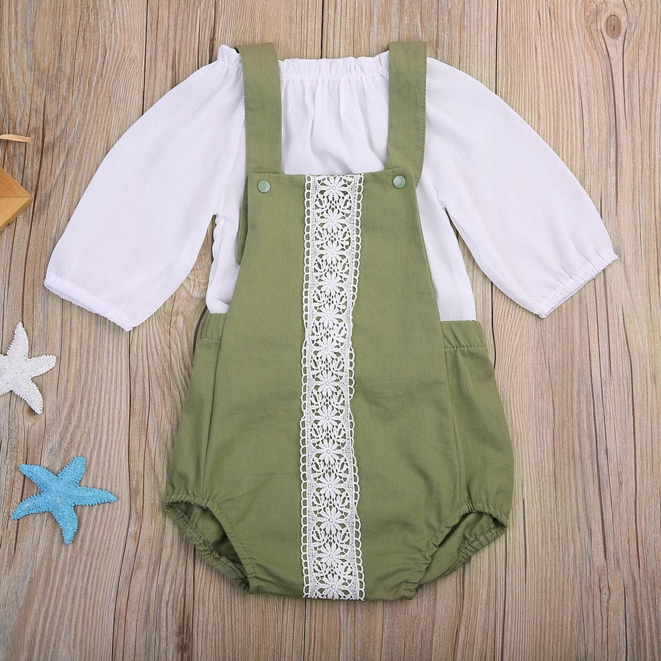 Olive Overall Set