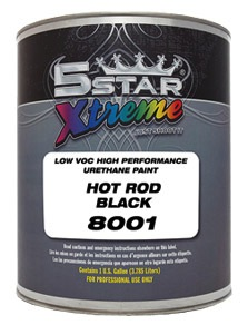 5 STAR High Performance Urethane Paint HOT ROD BLACK