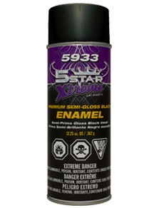 5 STAR Xtreme 5933 Premium Semi-Gloss Black Enamel