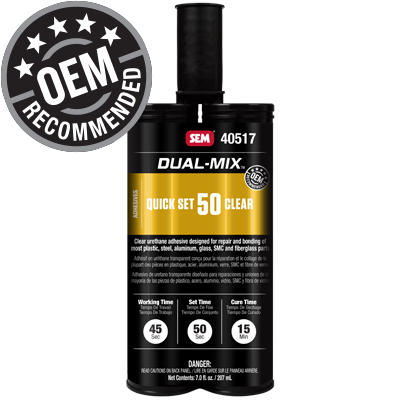 SEM DUAL-MIX™ * CLEAR *  QUICK SET 50 7 OZ CARTRIDGE