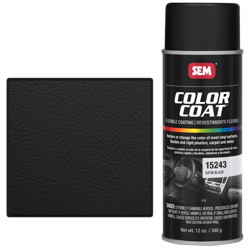 SEM COLOR COAT™ - SATIN BLACK 16 OZ AEROSOL