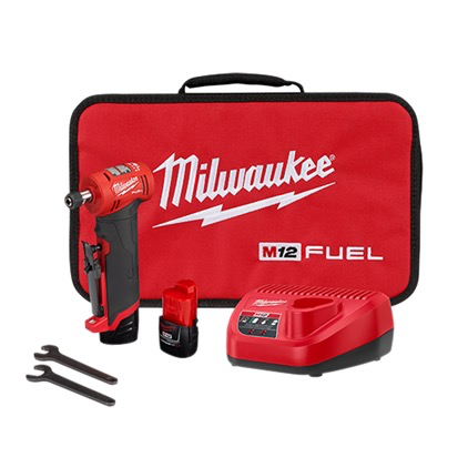 "Milwaukee M12 FUEL 1/4"" RIGHT ANGLE DIE GRINDER KIT"