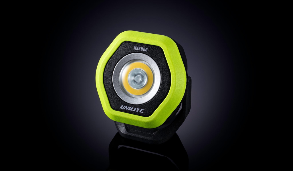 Unilite 800 LUMEN COMPACT DUAL LED RECHARGEABLE WORK LIGHT WITH 300 LUMEN SPOT BEAM. ROTATING STAND WITH SUPER STRONG MAGNETIC BASE