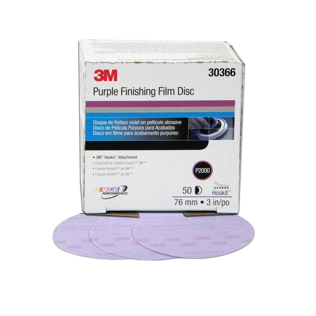 3M Hookit Purple Finishing Film Disc