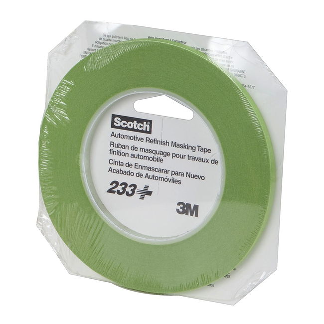 3M Scotch® Performance Masking Tape 233+, 26344, 6 mm x 55 m, 96 rolls per case Boxed