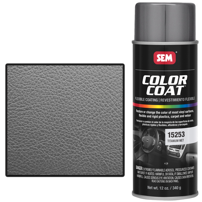 SEM COLOR COAT™ - TITANIUM METALLIC 16 OZ AEROSOL