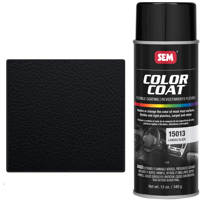 SEM COLOR COAT - LANDAU BLACK 16 OZ AEROSOL