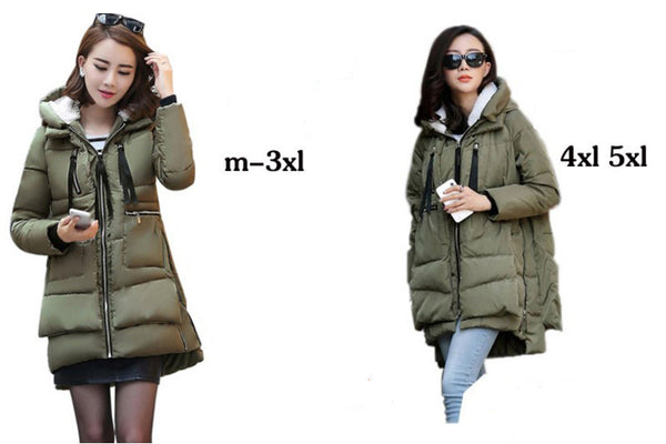 Women Military Coats Plus Size Thickening Cotton Hooded Parkas For Women Winter Coat Chaquetas Mujer Z008