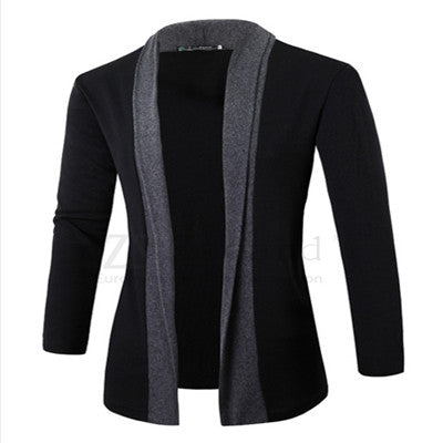 Men coat wool long sleeve slim Lapel collar england fashion style men