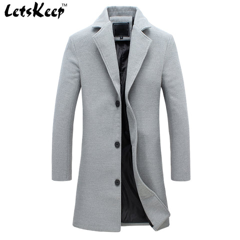 wool long coat men warm black business overcoat mens Stylish woolen jacket Parka EU size S-4XL, ZA194