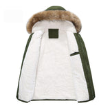 Fleece cotton coat jacket parka men
