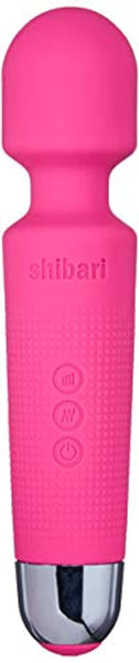 "Shibari Mini Halo,""The Original"" Compact Power Wand Massager, Wireless, 20x Multi-speed Vibrations (Pink)"
