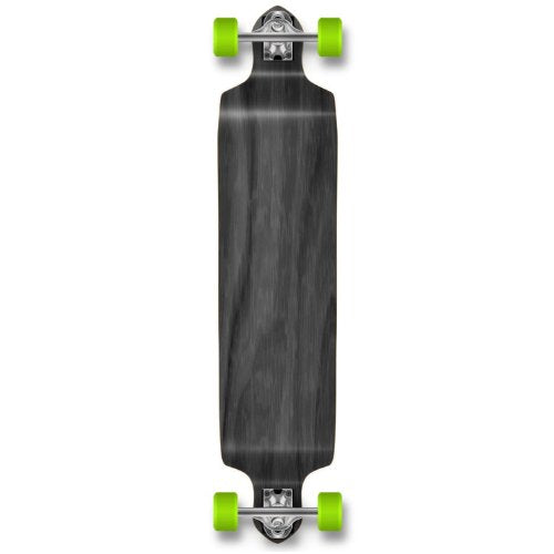 YOCAHER Professional Speed Drop Down Stained Complete Longboard, Red