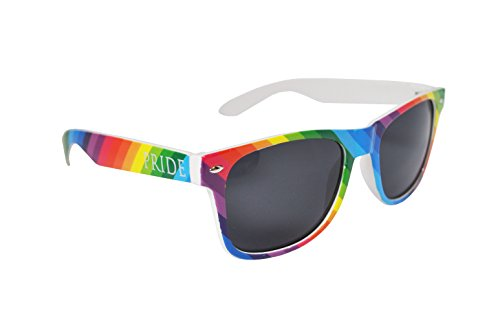 Colorful Gay Pride Rainbow Drifter Style Sunglasses Unisex