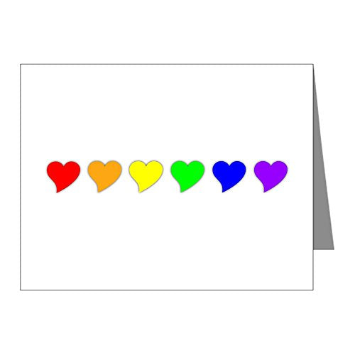 CafePress - Rainbow Heart - Blank Note Cards (Pack of 20) Glossy