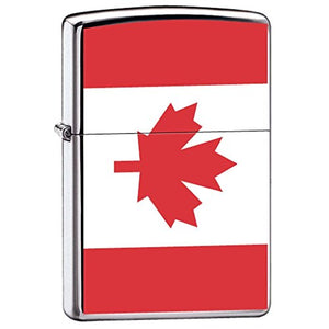 Canadian Pride Maple Leaf Flag of Canada Chrome Zippo Lighter