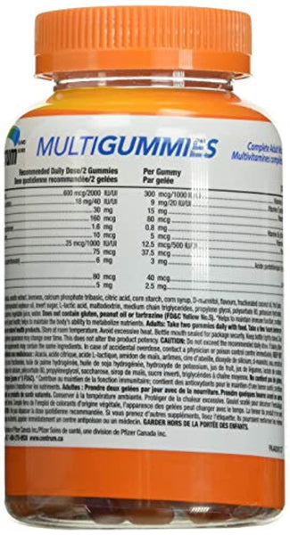 Centrum® MultiGummies Adult (150 Count, Cherry, Berry, Orange Flavor) Multivitamin Gummies