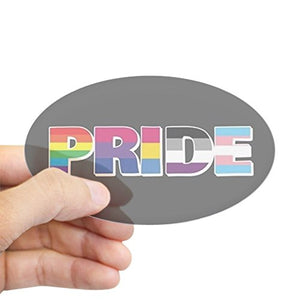 CafePress - LGBTQ - Pride Full Bleed Sticker - Oval Bumper Sticker Car Decal