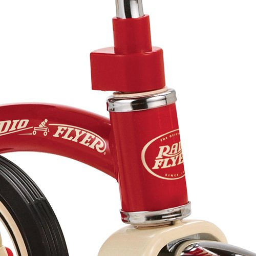 "Radio Flyer Classic Red 10"" Tricycle with Push Handle"