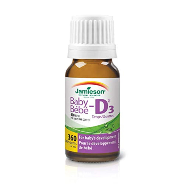 Jamieson Baby-D Vitamin D3 400 IU Droplets