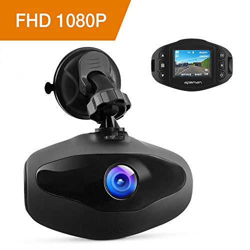 APEMAN Mini Dash Cam 1080P Full HD Car Video Recorder with Sony Sensor, 650NM Lens, WDR, Loop Recording, Motion Detection, Park Monitor and G-Sensor