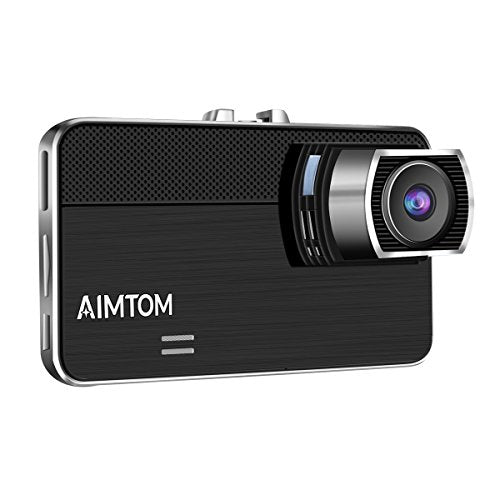 "AIMTOM SL-7 Dash Cam, Car Camera Recorder HD 1080P with 2.7"" Screen, 170 Degree Wide View Angle High-resolution Lens Dashboard Car DVR Built-In G-Sensor, WDR, Loop Recording, Night Vision, Motion Detection, Parking Guard"