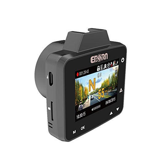 EBORN 170 Degree Car Dash Cam with GPS ,Mini 2 inch Vehicle Dashboard Camera Recorder DVR ,1296P 1080P Super HD,Night Vision,ADAS,Parking Monitor ,WDR