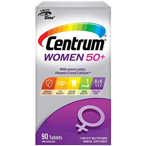 Centrum Women 50+ (90 Count) Multivitamin/Multimineral Supplement Tablet, Vitamin D, Age 50 and Older