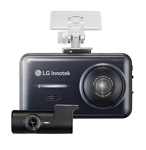 LG Dash Cam - 2 Channel Front/Rear 1920 x 1080 High-Res Dashboard Cameras, Mini Audio/Video Recording Dashcam Blackbox with 3.5 Inch Screen, 3G Motion and Accident Sensor, GPS, 32 GB Micro SD Card