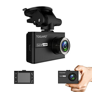 "TOGUARD Mini Dash Cam, Car Driving Recorder, Full HD 1080P 1.5"" LCD Dashboard Camera with SONY Exmor Sensor, G-Sensor, Motion detection, Loop recording, Super Capacitor"