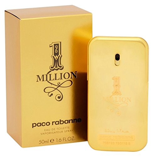Paco Rabanne 1 Million Eau De Toilette Spray for Men, 1.7 fl. Oz.