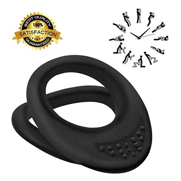 Available Portable Convenient Dual Design --Long Lasting delay Ring for Men and Women
