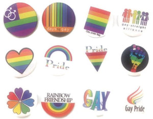 Gay brooch emblem 1 Awesome Quality Lot 12 New Pins Pinbacks Buttons Badge 1.25""
