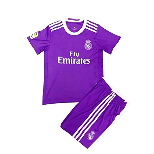 outlet store f00d9 685e5 #7 Ronaldo Real Madrid Home Kid Soccer Jersey & Matching Shorts Set