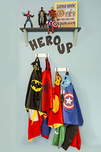 Heros Costumes 5 Satin Capes with Felt Masks