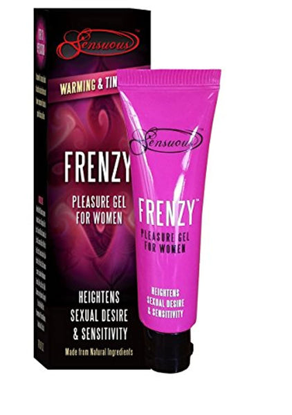 Frenzy Pleasure Gel - Natural Female Stimulating Gel. Great Valentin's Day Gift. Increases Sexual Desire; Renews Sexual Passion; Natural Aphrodisiacs; Intensifies Orgasms; Natural formula. (7ml)